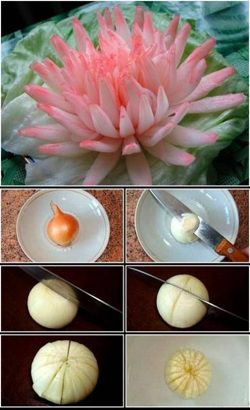 Как сделать цветок из огурца фото 21