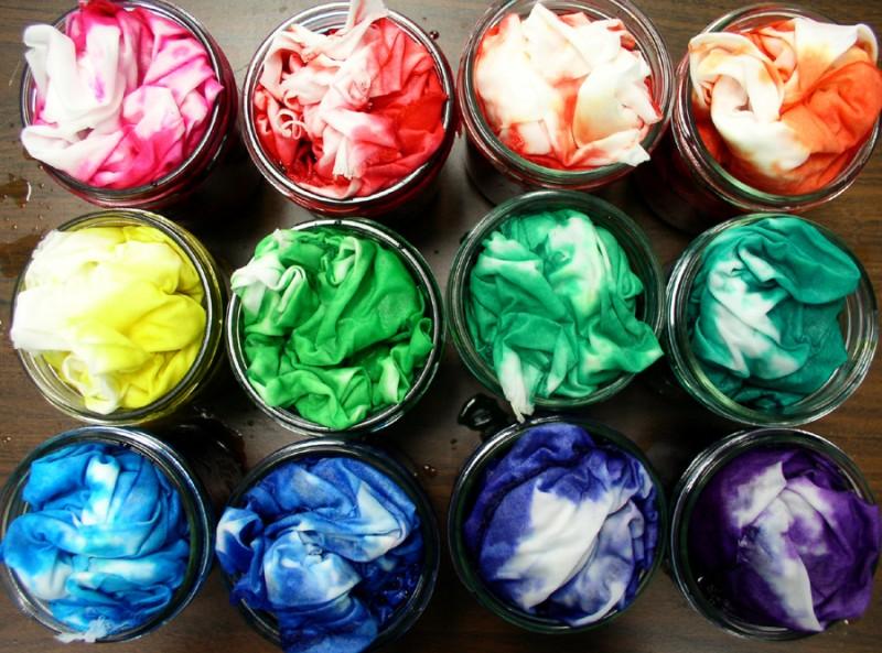 Как в домашних условиях покрасить ткань в синий цвет в домашних условиях