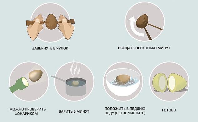 Как сварить яйца чтобы белок был внутри желтка