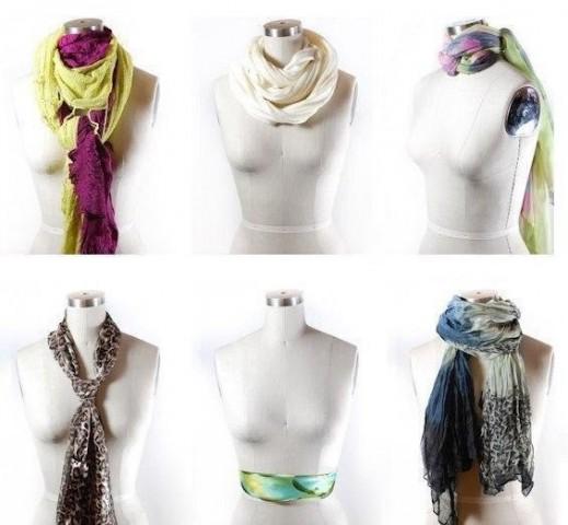 42 способа стильно завязать шарф 1
