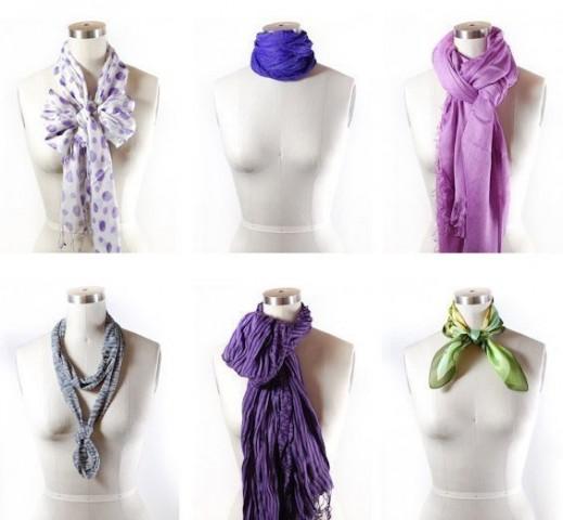 42 способа стильно завязать шарф 3