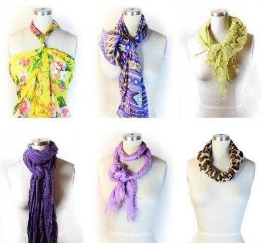 42 способа стильно завязать шарф 4