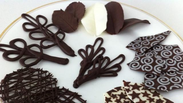Как сделать шоколадные узоры 0
