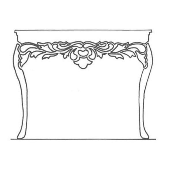 Декор: делаем из простой полки столик во французском стиле