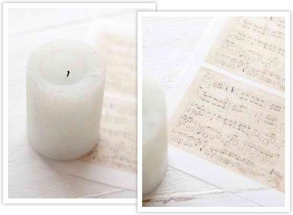 Свеча с пожеланием.