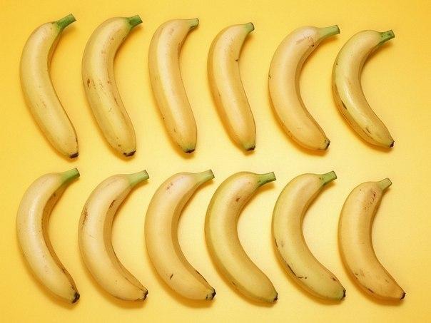 Не храните бананы вместе с другими фруктами и в одной грозди