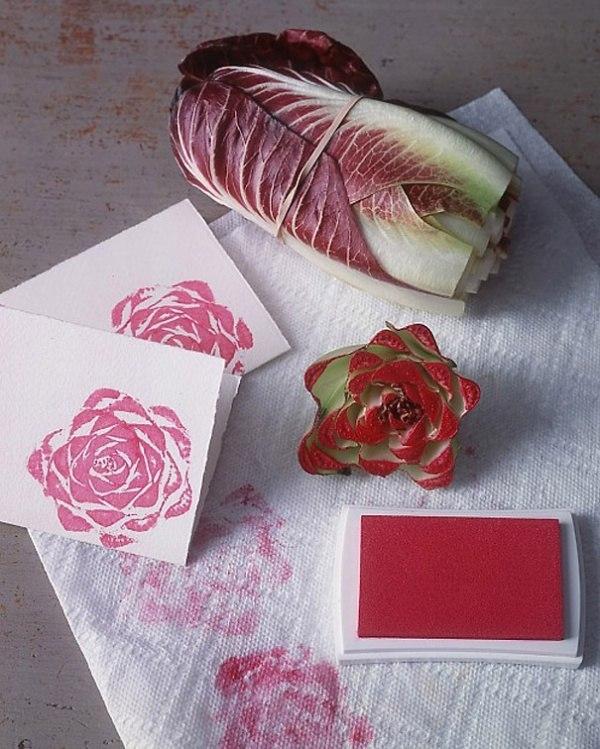 Как получить красивый штамп в виде розы для открыток?