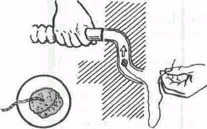 Как протянуть электропровод через изогнутую трубку