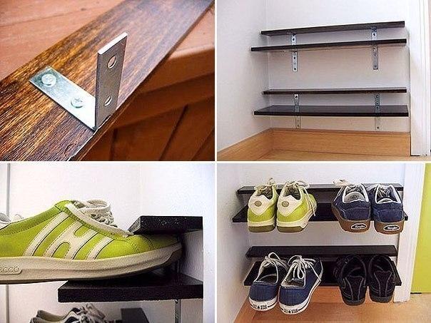 Вариант полки для обуви