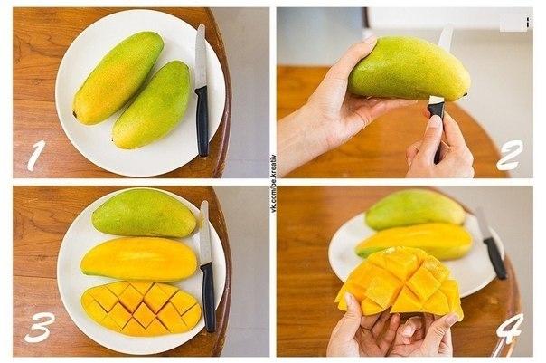 Как удобно почистить манго?