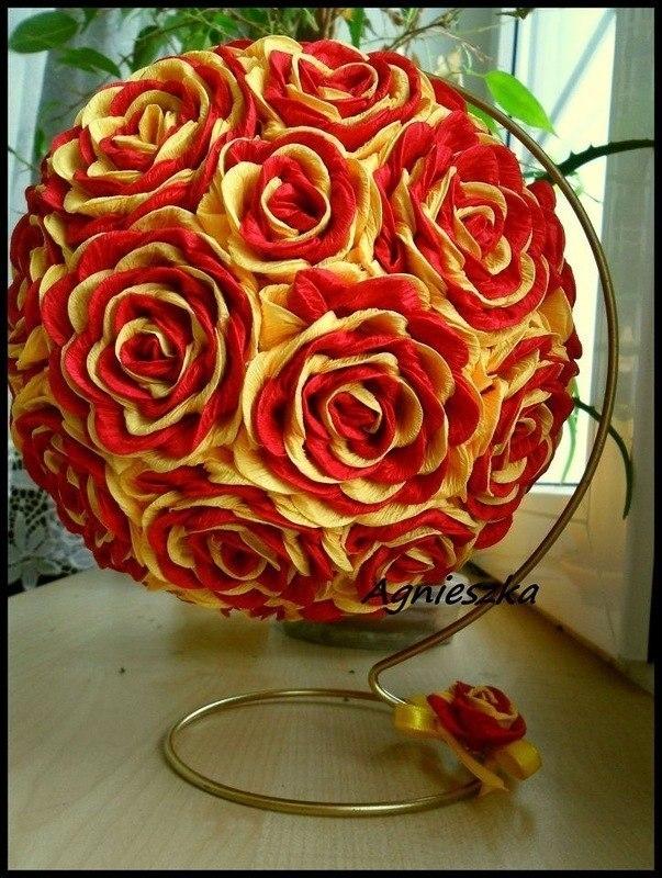 роза из бумаги своими руками схемы