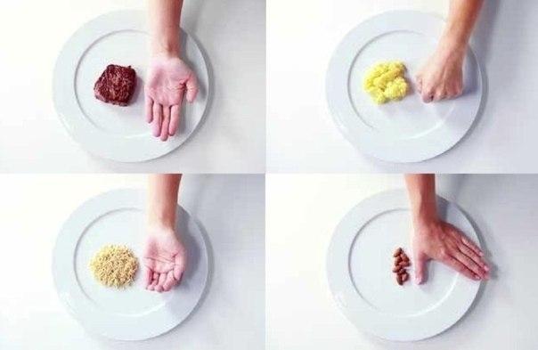 размер порции при правильном питании для похудения