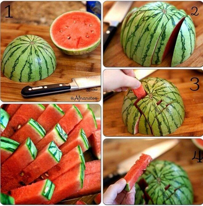 Как красиво нарезать арбуз