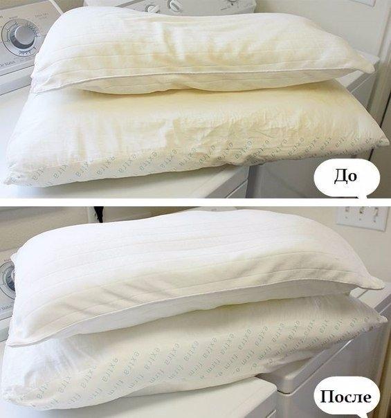 Как и чем стирать подушки (с синтетическим наполнителем)