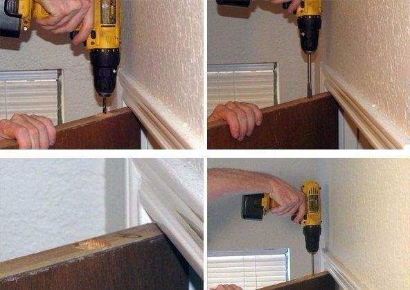 Как оборудовать тайник в двери