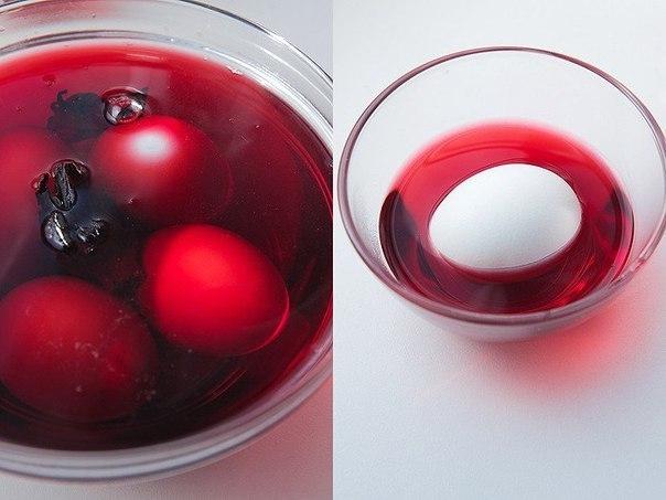Простейший и экологичный способ покрасить яйца.