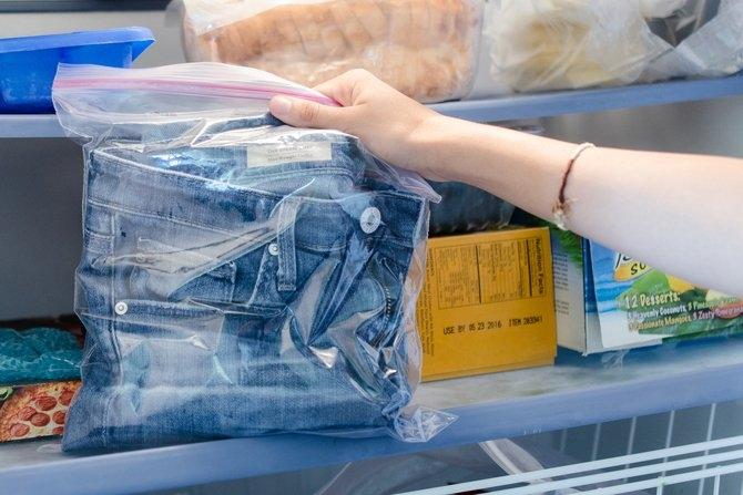 Как освежить джинсы