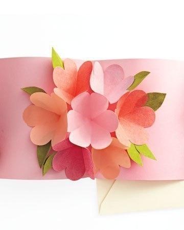 Как сделать цветочную открытку - Полезные советы