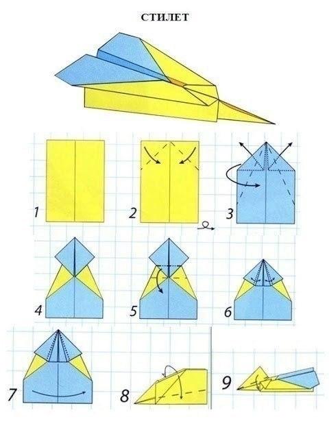 Как сделать бумажные самолетики чтобы они летали