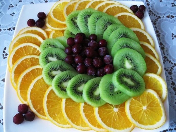 Как сделать красиво фруктовую нарезку фото