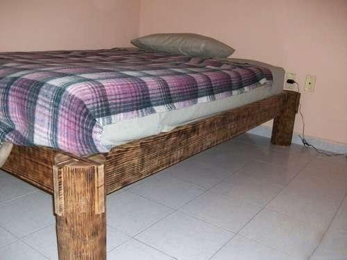 Как самому сделать двуспальную кровать из дерева