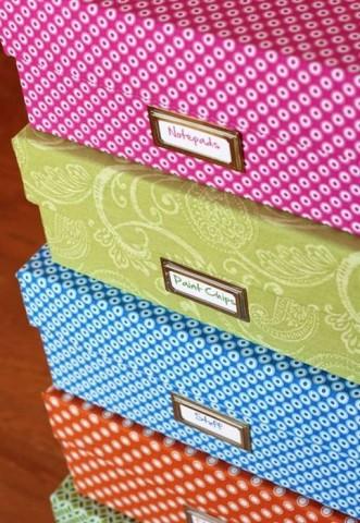 Хранение в картонных коробках — стильное и экономичное решение 5