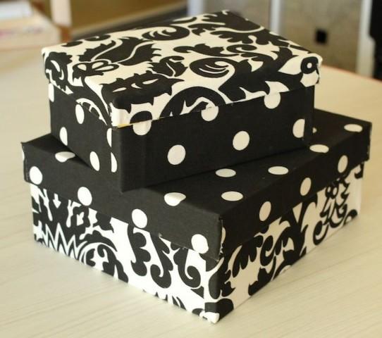 Хранение в картонных коробках — стильное и экономичное решение 12