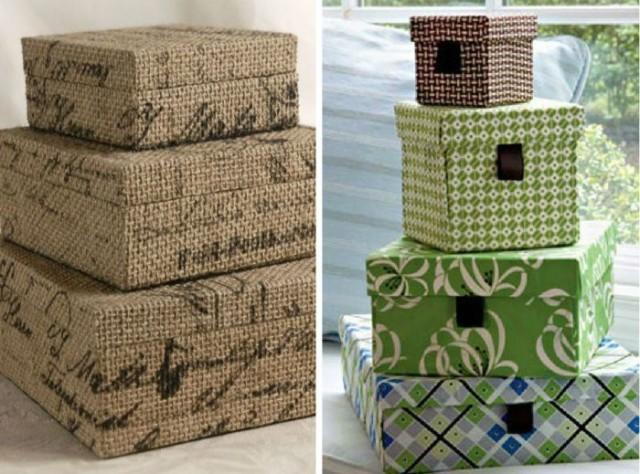 Хранение в картонных коробках — стильное и экономичное решение 13