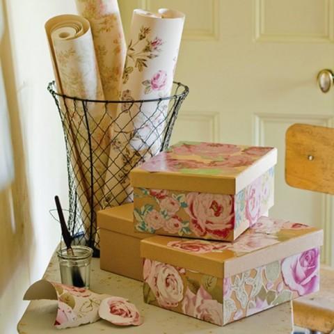 Хранение в картонных коробках — стильное и экономичное решение 11