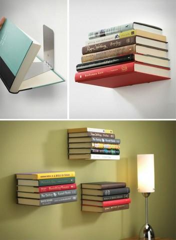 Как сделать невидимую полочку для книг? 0