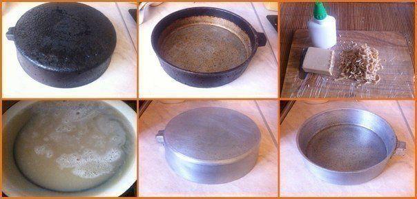Волшебный способ очистки старой сковороды 0
