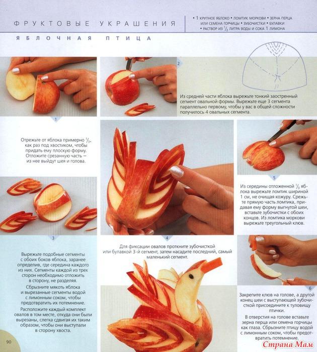 Как сделать красивые украшения из еды 8