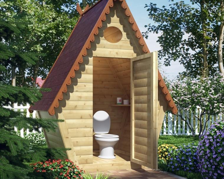 Как превратить туалет на даче в произведение искусства 3
