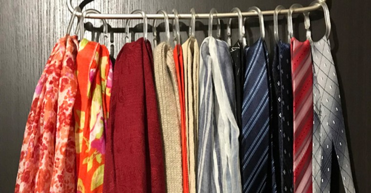 Самые разные способы хранения шарфов 11