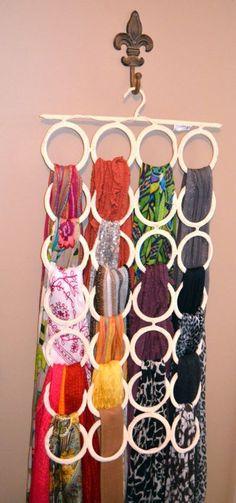 Как удобно хранить шарфы 8