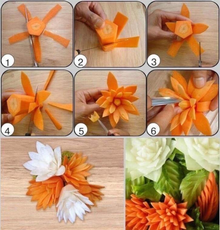 Как сделать красивые украшения из еды 2