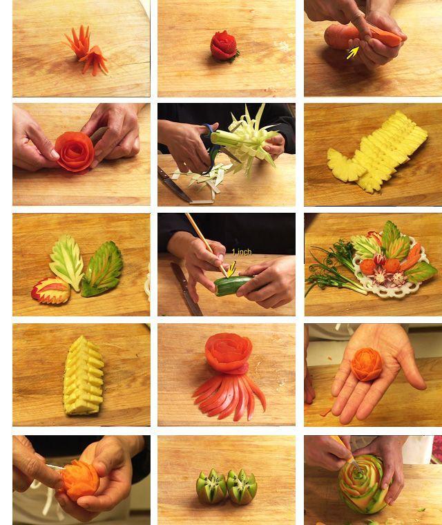 Как сделать красивые украшения из еды 1