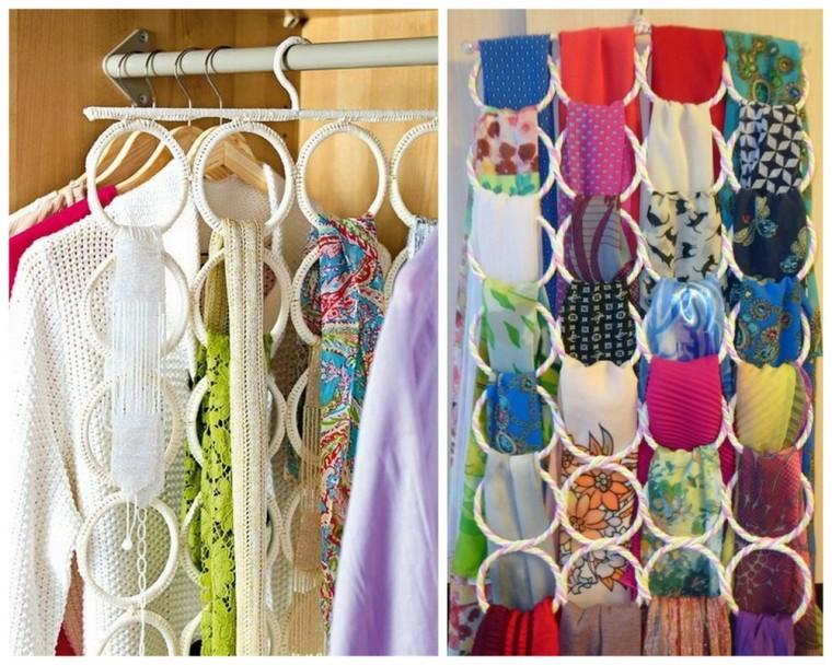 Самые разные способы хранения шарфов 7