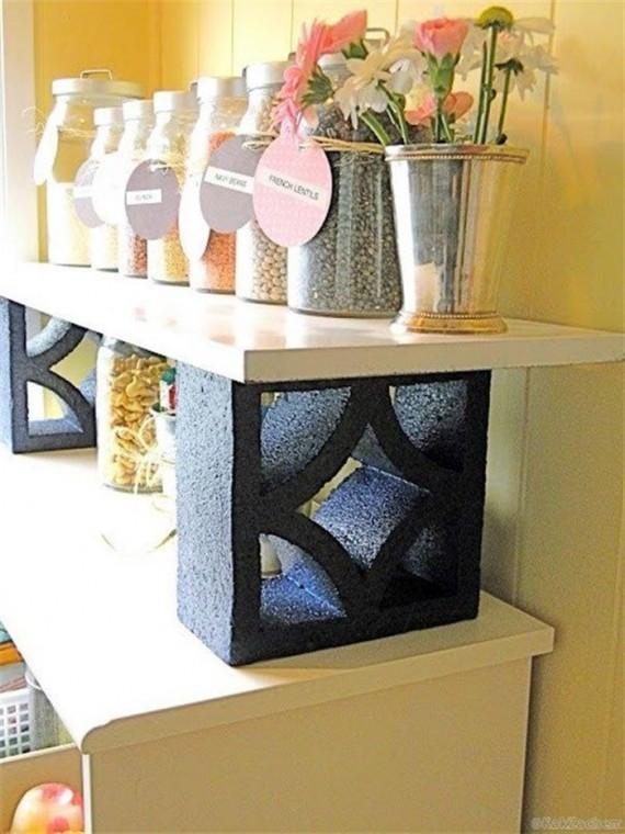 Как использовать шлакоблоки в декоре дома 5