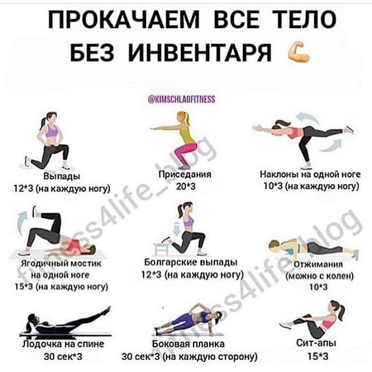 Идеи для домашней тренировки: как прокачать все тело без инвентаря 0