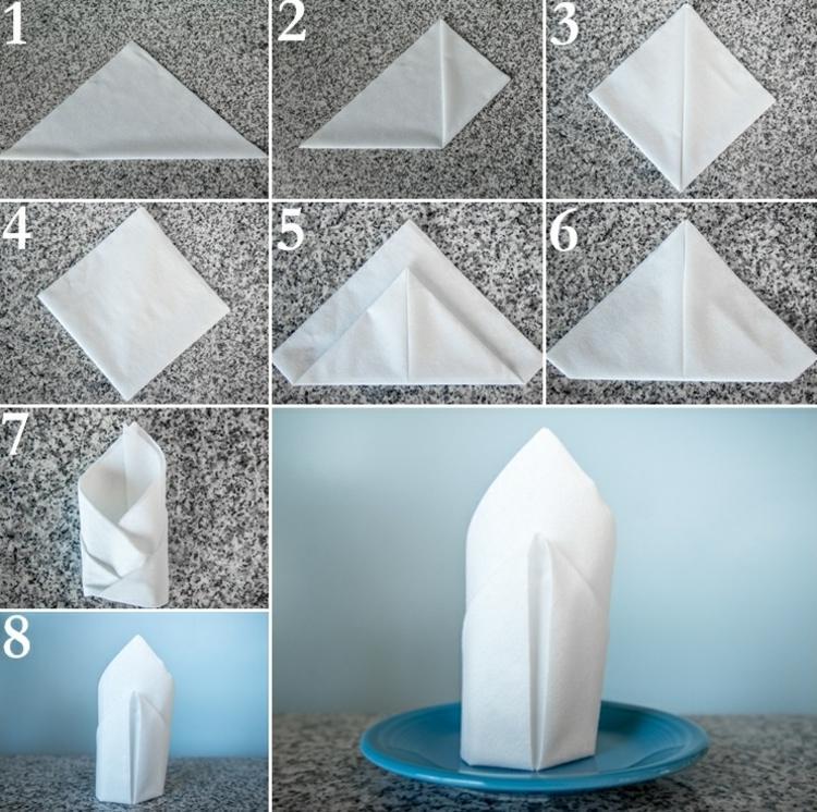 Как красиво сложить салфетки 4