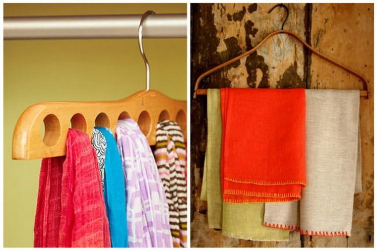 Самые разные способы хранения шарфов 6