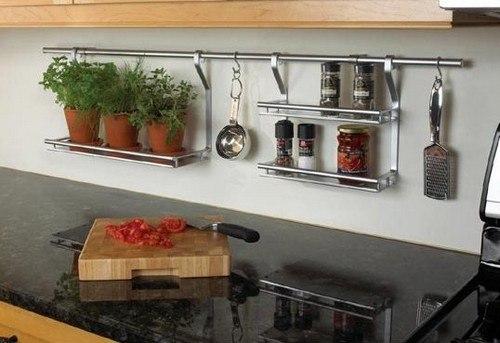 Как использовать рейлинги для кухни максимально полезно 1