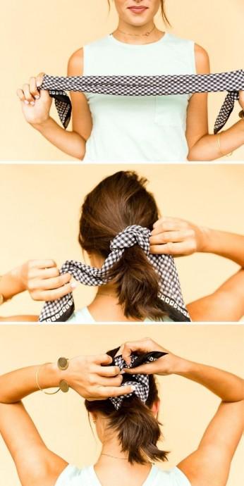 Как использовать платок на голове как стильный аксессуар 4