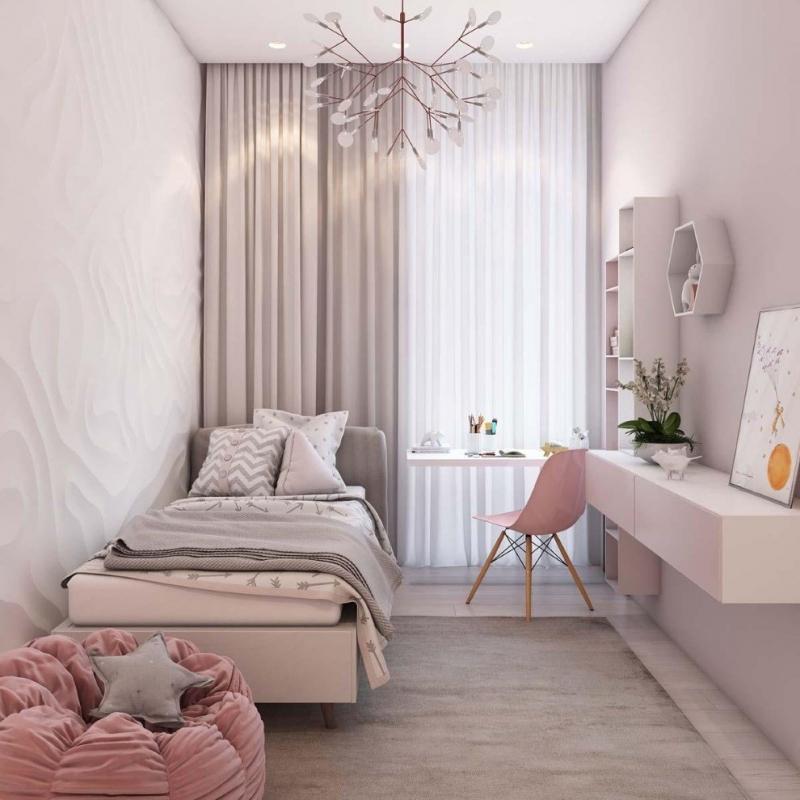 Как сделать маленькую спальню и красивой, и практичной, и удобной 0