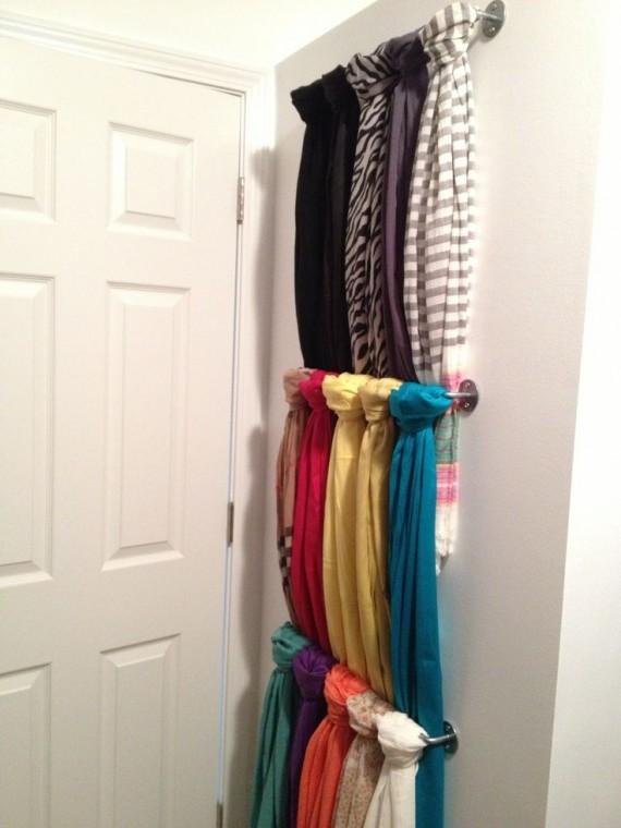 Как удобно хранить шарфы 0