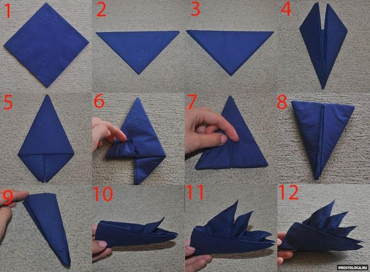 Умело сложенная салфетка как украшение стола 7