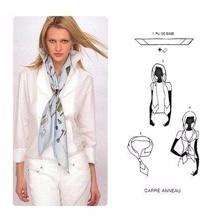 Как стильно завязать платок 4