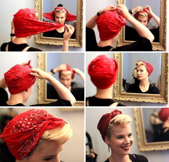 Как использовать платок на голове как стильный аксессуар 2