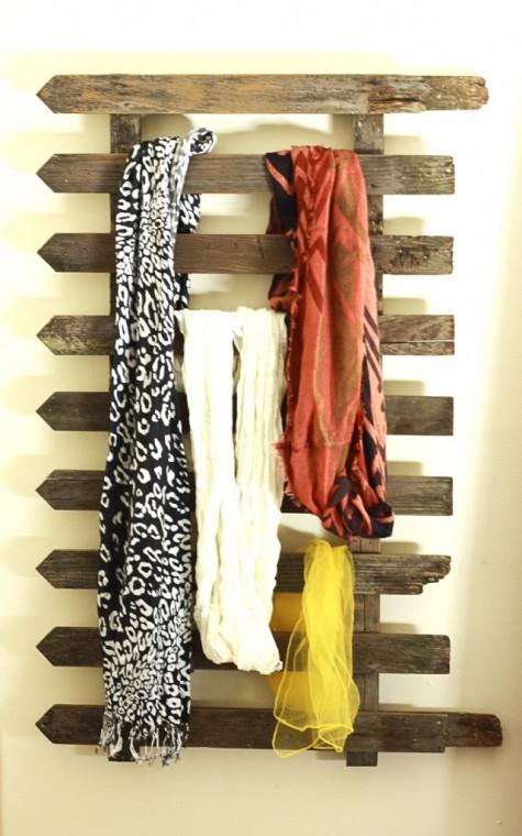 Как удобно хранить шарфы 7